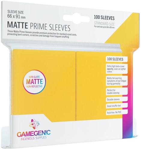 Prime Matte Sleeves 66x91mm Geel (100 stuks)