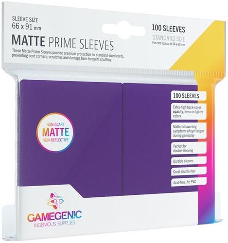 Prime Matte Sleeves 66x91mm Paars (100 stuks)