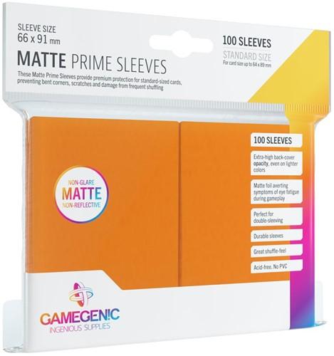Prime Matte Sleeves 66x91mm Oranje (100 stuks)