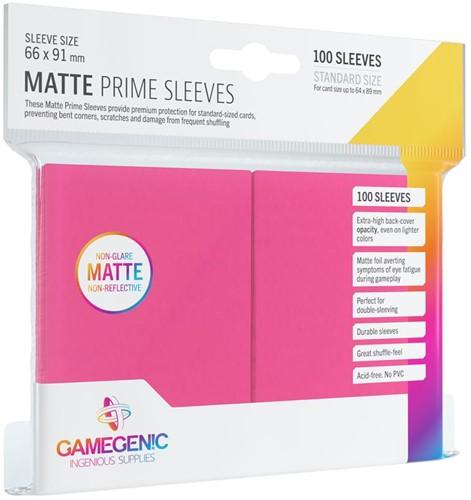 Prime Matte Sleeves 66x91mm Roze (100 stuks)