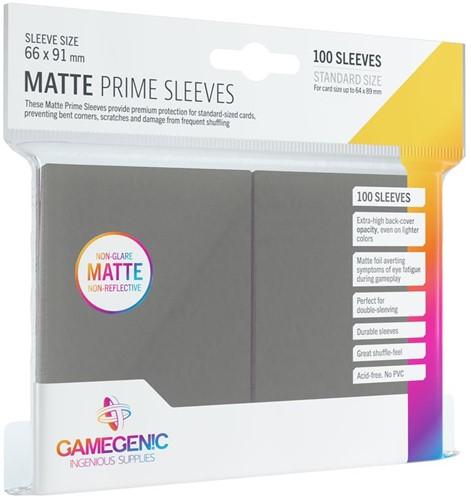 Prime Matte Sleeves 66x91mm Grijs (100 stuks)