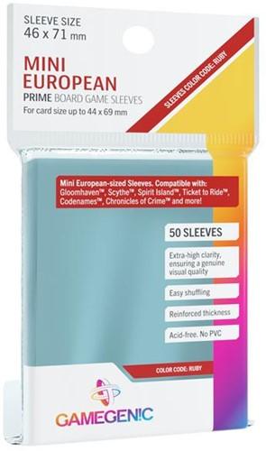 Sleeves Prime Mini European-Sized 46x71mm (50 stuks)