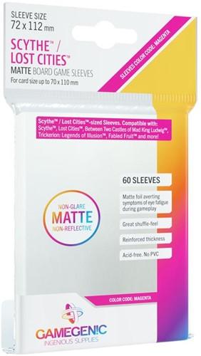 Sleeves Matte Scythe/Lost Cities 72x112mm (60 stuks)