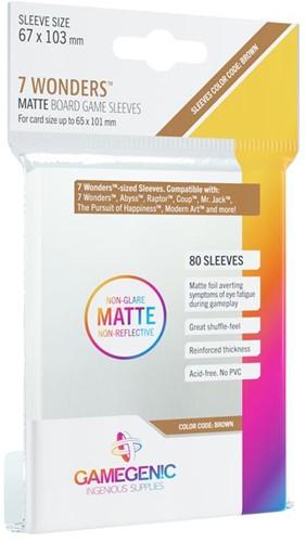 Sleeves Matte 7 Wonders 67x103mm (80 stuks)