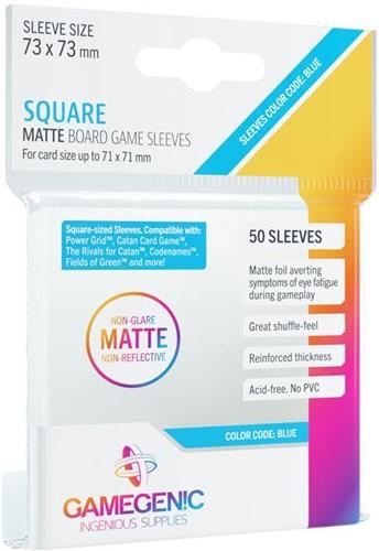 Sleeves Matte Square-Sized 73x73mm (50 stuks)