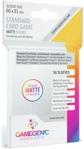 Sleeves Matte Standard Card Game 66x91mm (50 stuks)