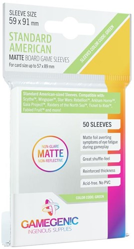 Sleeves Matte American-Sized Boardgame 59x91mm