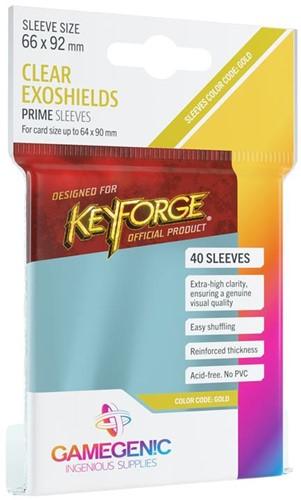 Sleeves Prime KeyForge Exoshields Clear 66x92mm (40 stuks)