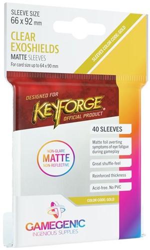 Sleeves Matte KeyForge Exoshields Clear 66x92mm (40 stuks)