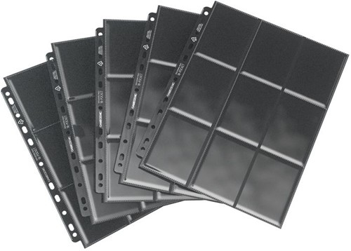 Sideloading 18-Pocket Pages Pack Zwart (10 stuks)