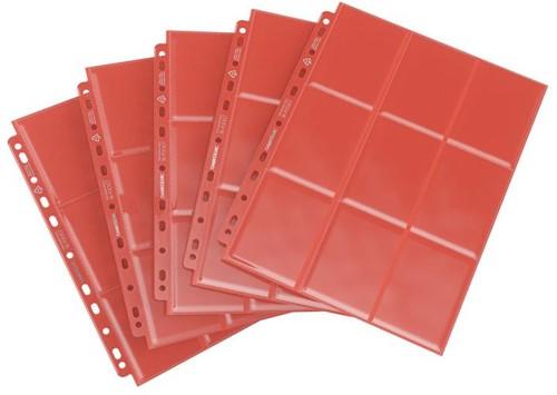 Sideloading 18-Pocket Pages Pack Rood (10 stuks)