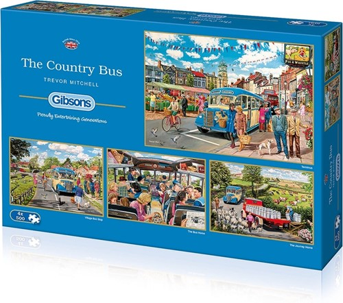 The Country Bus Puzzel (4 x 500 stukjes)