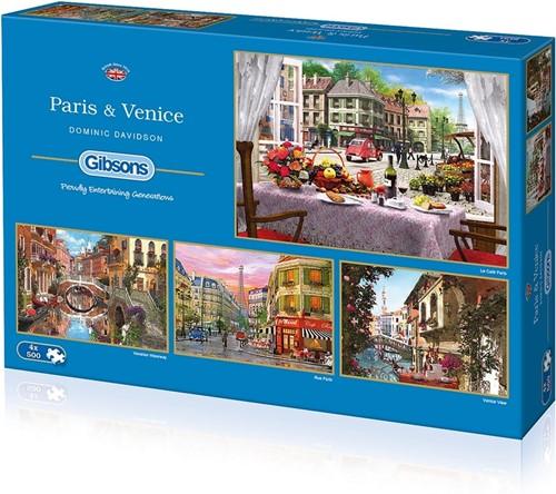 Paris & Venice Puzzel (4 x 500 stukjes)