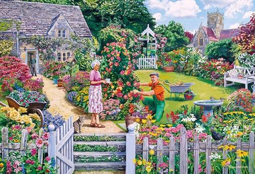 The Gardener's Round Puzzel (4 x 500 stukjes)-2