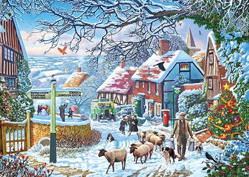 A Winter Stroll - Steve Crisp Puzzel (1000 stukjes)