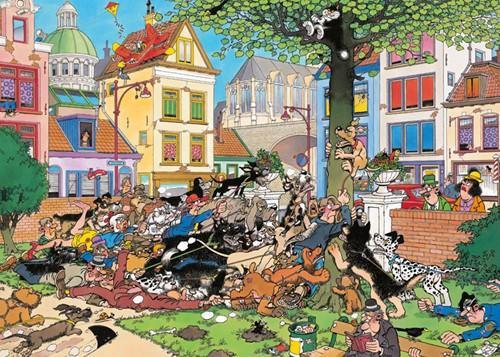 Jan van Haasteren - Vang die Kat Puzzel (1000 stukjes)-2