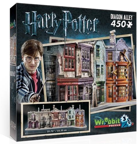 Wrebbit 3D Puzzel - Harry Potter Diagon Alley (450 stukjes)-1