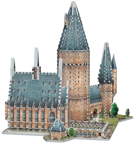 Wrebbit 3D Puzzel - Harry Potter Hogwarts Great Hall (850 stukjes)