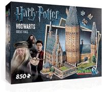 Wrebbit 3D Puzzel - H. Potter Hogwarts Great Hall (850 stukjes)-1