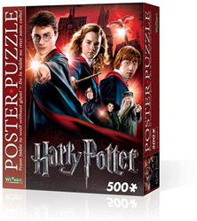Wrebbit Poster Puzzel - H. Potter Hogwarts School (500 stukjes)