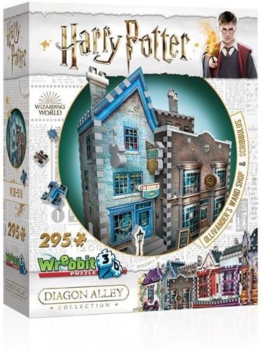 3D Puzzel - Harry Potter Ollivander's Wand Shop & Scribbulus (295 stukjes)