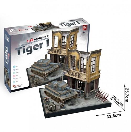 3D Puzzel German Tiger I Puzzel (258 stukjes)
