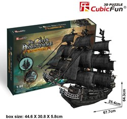 3D Puzzel The Queen Anne's Revenge (308 stukjes)