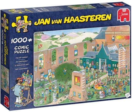 Jan van Haasteren - De Kunstmarkt Puzzel (1000 stukjes)