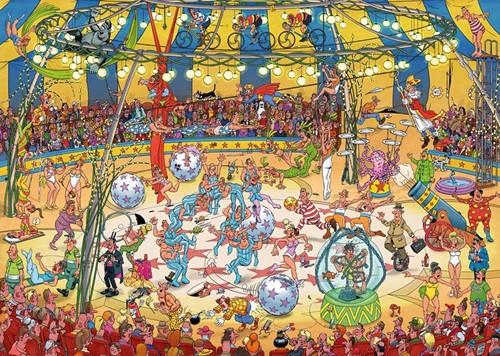 Jan van Haasteren - Acrobaten Circus Puzzel (1000 stukjes)-2