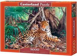 Jaguars In The Jungle Puzzel (3000 stukjes)