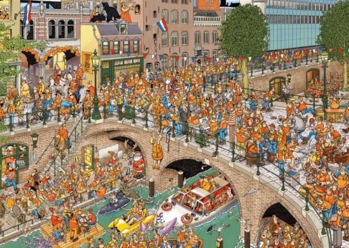 Jan van Haasteren - Koningsdag Puzzel (1000 stukjes)-2