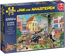 Jan van Haasteren - Vang die Kat Puzzel (1000 stukjes)