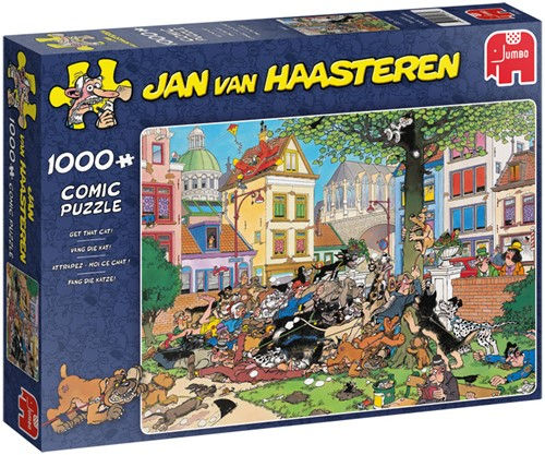 Jan van Haasteren - Vang die Kat Puzzel (1000 stukjes)-1