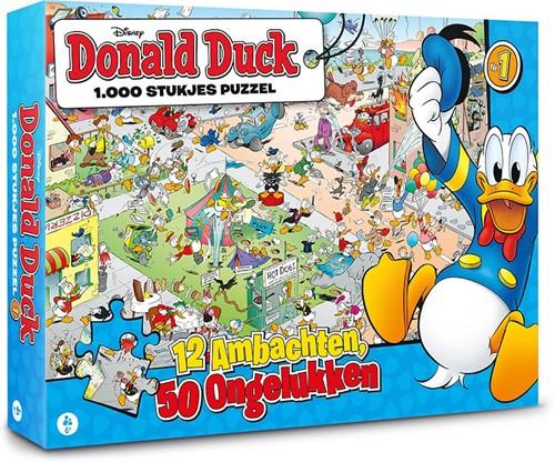 Donald Duck - 12 Ambachten, 50 Ongelukken Puzzel (1000 stukjes)