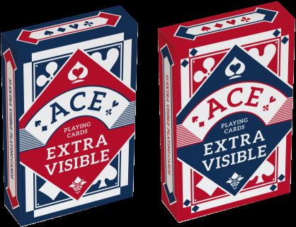 Speelkaarten - Ace Bridge Extra Visible Blauw