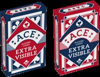Speelkaarten - Ace Bridge Extra Visible Rood