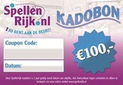 Spellenrijk Kadobon € 100,- Per Post