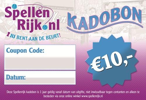 Spellenrijk Kadobon € 10,- Per Post