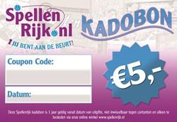 Spellenrijk Kadobon € 5,- Per Post