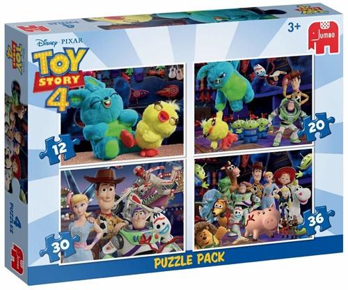 Disney Toy Story 4 - 4 in 1 Puzzel (12, 20, 30 en 36 stukjes)