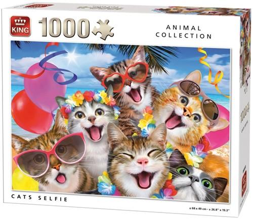 Cats Selfie Puzzel (1000 stukjes)