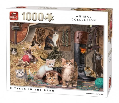 Kittens in the Barn Puzzel (1000 stukjes)
