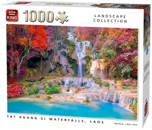 Tat Kuang Si Waterfalls Puzzel (1000 stukjes) (doos beschadigd)
