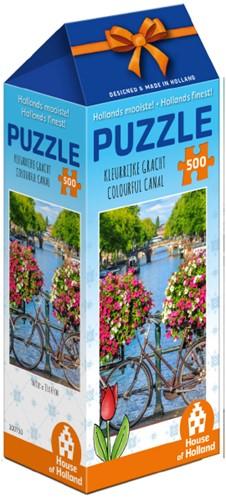 Hollands Mooiste! - Kleurrijke Gracht Puzzel (500 stukjes)