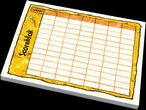 Konijnenhokken - Scoreblok (3 stuks)