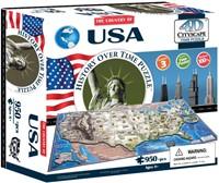 4D City Puzzel - USA (950 stukjes)