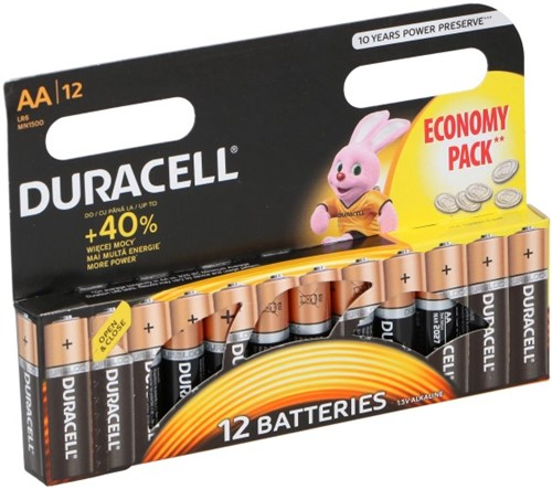 Duracell Batterijen Economy MN 1500 AA (12 stuks)