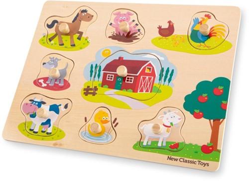 New Classic Toys - Houten Puzzel Boerderij (8 stukjes)