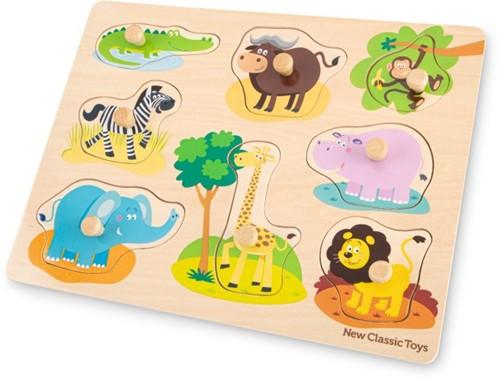 New Classic Toys - Houten Puzzel Safari (8 stukjes)