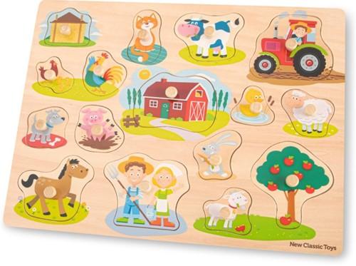 New Classic Toys - Boerderij Puzzel (16 stukjes)